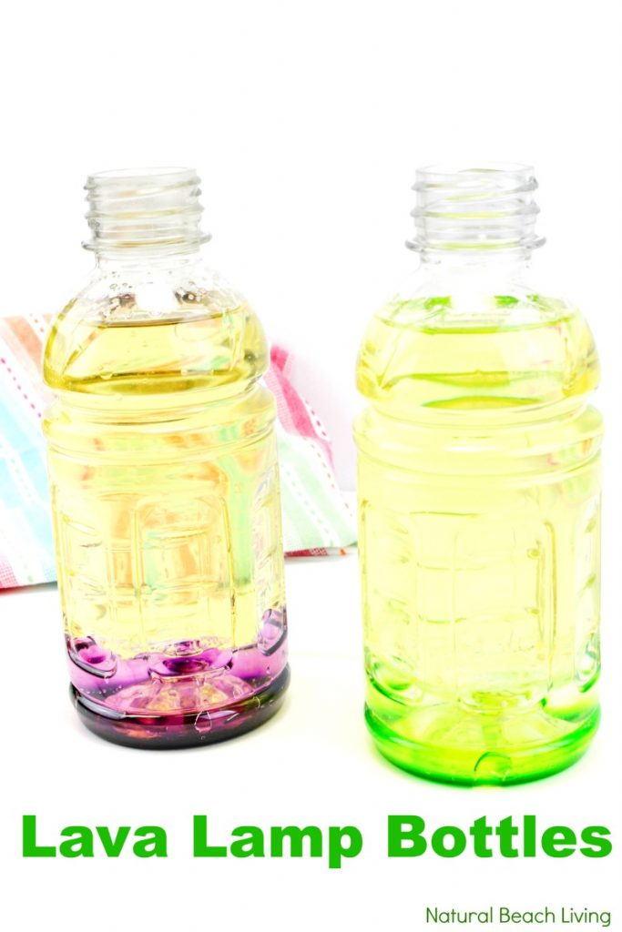 How to Make Lava Lamp Bottles, homemade lava lamp science project, DIY Lava Lamp, Lava Lamp Science Project, Lava Lamp Experiment, This is such a fun science experiment! These Lava Lamp Bottles are easy to put together and great for kids. Lava Lamp Bottles are a fun science project children of all ages can make and experiment with!
