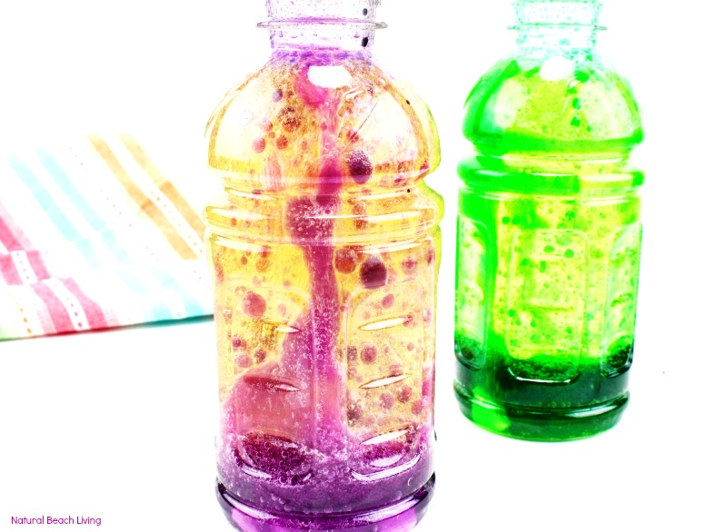 How To Make Lava Lamp Bottles, Homemade Lava Lamp Science Project, DIY Lava  Lamp