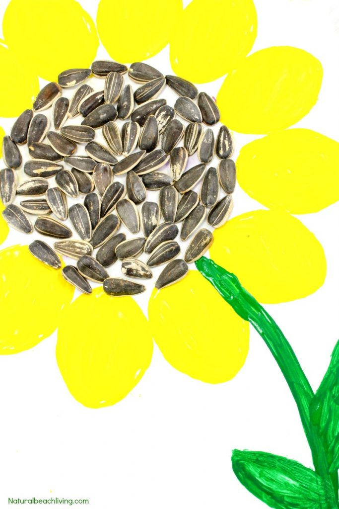 Easy sunflower art for kids sunflower craft ideas for Sunflower arts and crafts