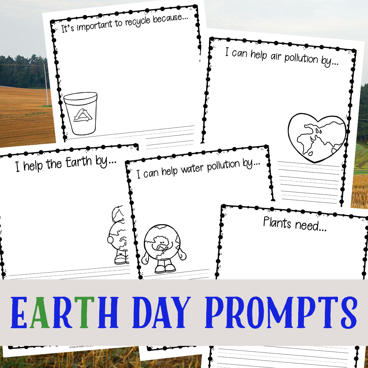 Earth day writing prompts for kids free recycle and