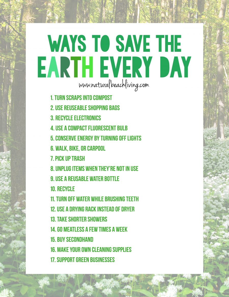 20 easy ways to save the earth every day natural beach for What is the best way to save for a house