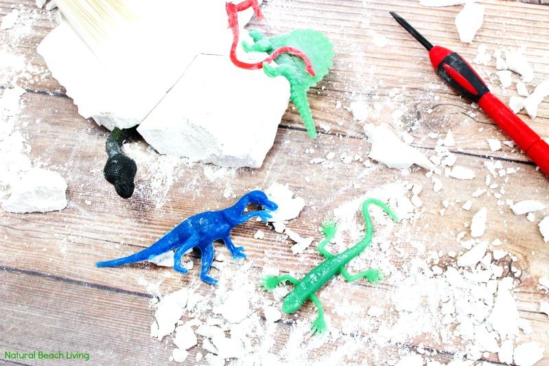 how to make dinosaur dig excavation for kids