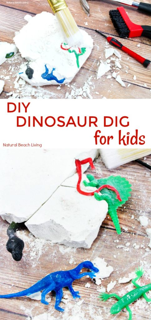 How to Make Dinosaur Dig Excavation for Kids, This DIY Dinosaur Excavation Dig is perfect for a Dinosaur Theme or Dinosaur Birthday party, it's easy to make and the kids love this fun DIY excavation activity, An exciting and engaging homemade geology dig kit would also make a fantastic homemade gift idea, Enjoy this fossil dig activity with your kids