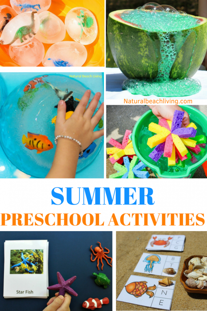 June Preschool Themes with Lesson Plans and Activities, Summer Preschool Themes, lesson plans and activities for homeschool, summer camp, daycare or summer fun at home. These June themes are perfect for preschoolers through early elementary. Ocean Activities for Kids, Summer Activities for Kids, Summer Lesson Plans for Preschool and Kindergarten