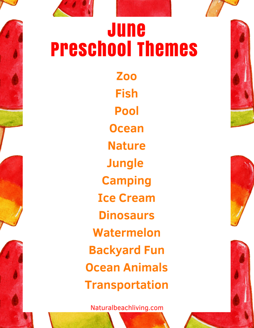 preschool summer themes june preschool themes with lesson plans and activities 963