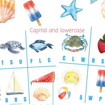 Free Beginning Sound Clip Cards – Summer Alphabet Printables