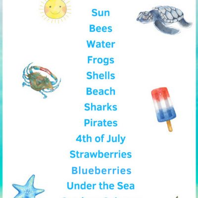 July Preschool Themes with Lesson Plans and Activities