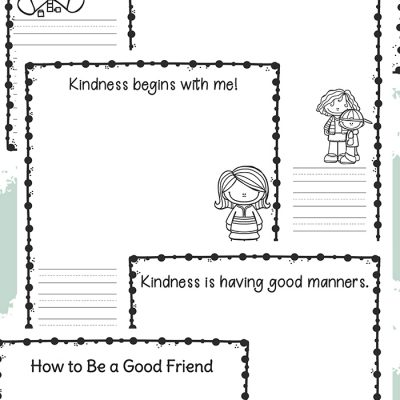 Kindness Writing Prompts for Kindergarten