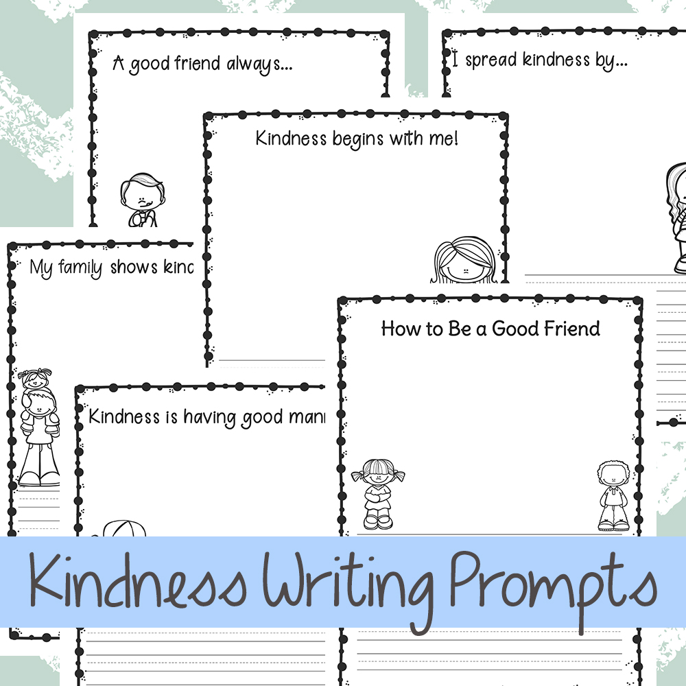 Kindness Writing Prompts for Kids, Kindness Writing Prompts for Kindergarten, Your children will love sharing kindness with these coloring, drawing and Writing Prompts! This FREE kindness activity will increase your child's writing skills and awareness on being kind to others. Free writing prompts, Random Acts of Kindness Ideas for Kids, Kindness Activities for Kids, Free Printables for Kids