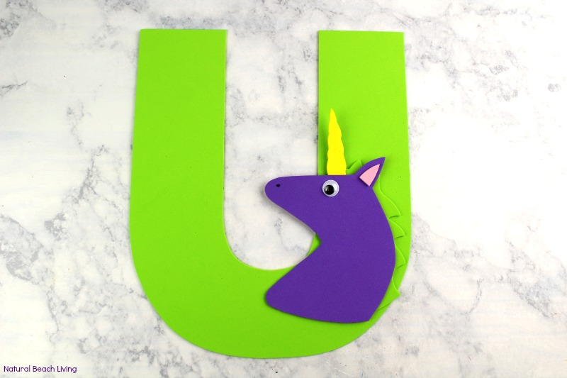 Letter u craft unicorn preschool activity with free templates letter u craft for unicorn preschool activity with free templates alphabet crafts are fun easy spiritdancerdesigns Image collections