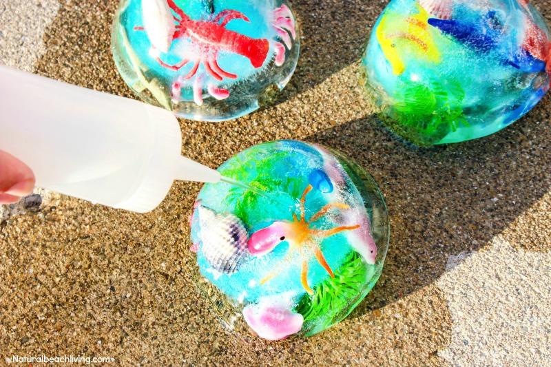 Ocean Theme Preschool, Ocean Theme Preschool Activities, Ocean Activities, Ocean Sensory Activities, Ocean Sensory Play, Frozen Ocean Sensory Bin, Ocean Themed Sensory Activities, Ocean Science for Toddlers and Preschoolers
