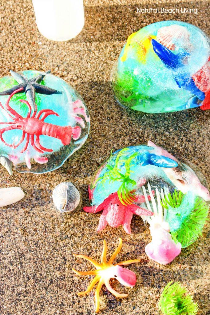 Ocean Theme Preschool, Ocean Theme Preschool Activities, Ocean Activities, Ocean Sensory Activities, Ocean Sensory Play, Frozen Ocean Sensory Bin, Ocean Themed Sensory Activities, Ocean Science for Toddlers and Preschoolers, Ocean Science for Kids
