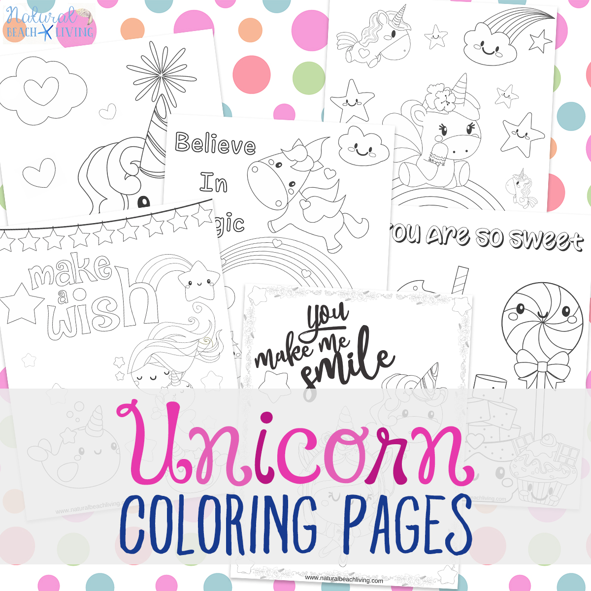 Unicorn Coloring Pages Free Unicorn