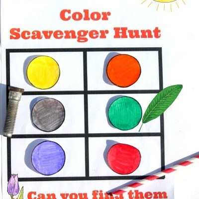 Color Scavenger Hunt for Preschoolers and Toddlers