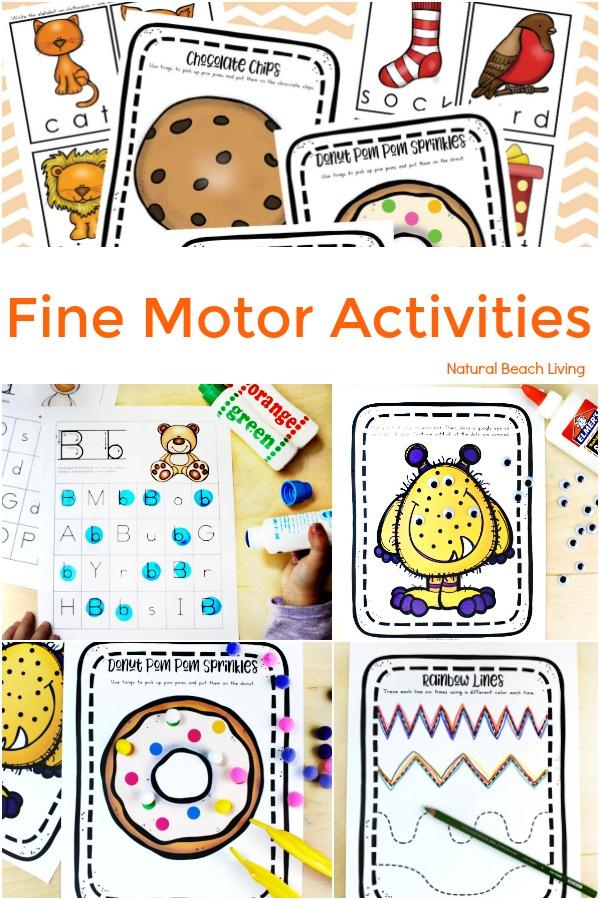 Fine Motor Activities, Fine Motor Skills and Ideas for preschool and kindergarten