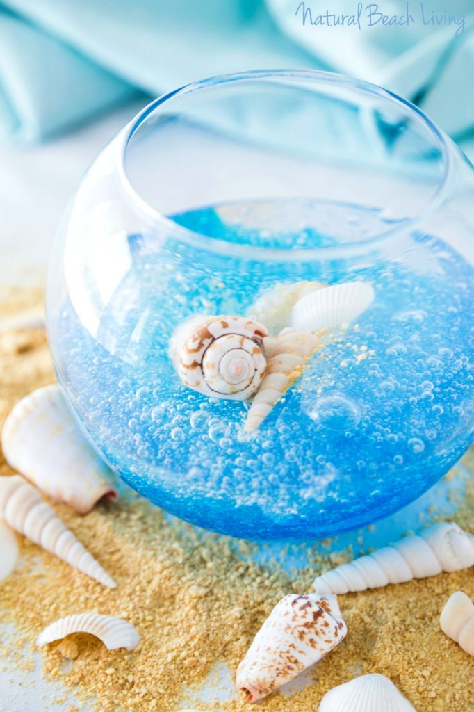 Ocean Slime With The Best Clear Slime Recipe, Whether you are looking for a fun summer activity, a cool centerpiece for an ocean theme party, a slime party favor or a super cool slime gift idea this Ocean Slime is perfect! Clear Ocean Slime, Under the Sea Slime Recipe, How to Make Clear Slime, slime recipes, Slime Supplies, Slime Gift Ideas