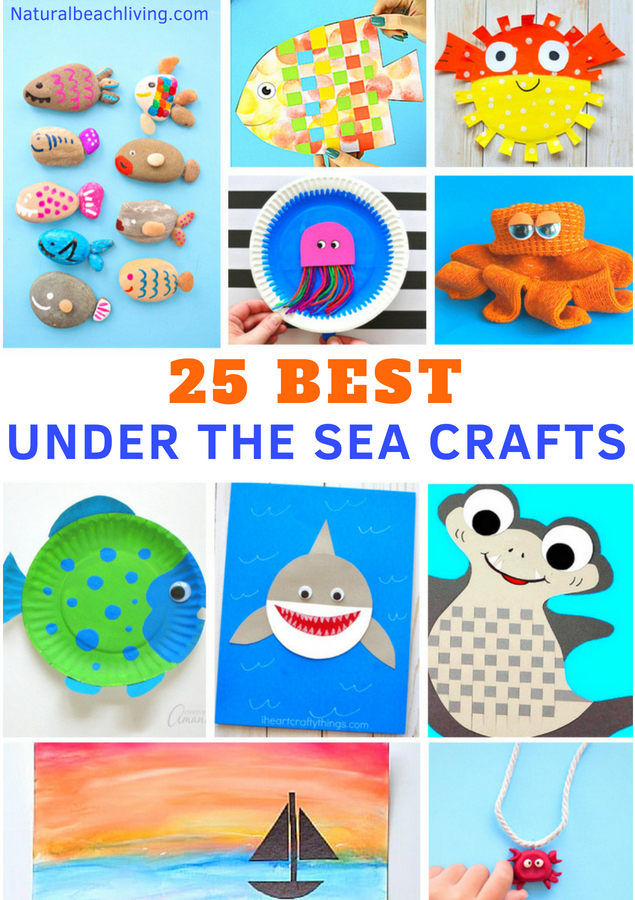 25 Best Under the Sea Crafts for Kids, Ocean Themed Kids Crafts for every age, Perfect Under the Sea Activities for Preschool and an Ocean Theme, adorable ocean animals and under the sea themed activities and projects