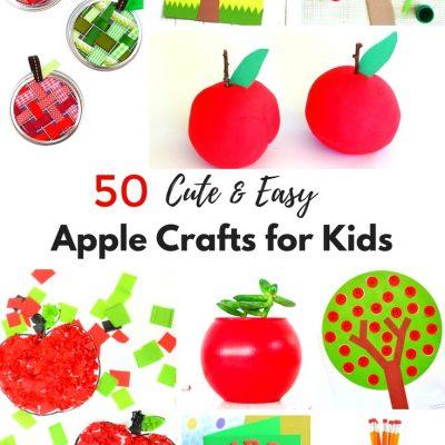 50+ Apple Crafts for Kids