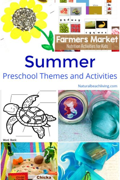 August Preschool Themes with Lesson Plans and Activities