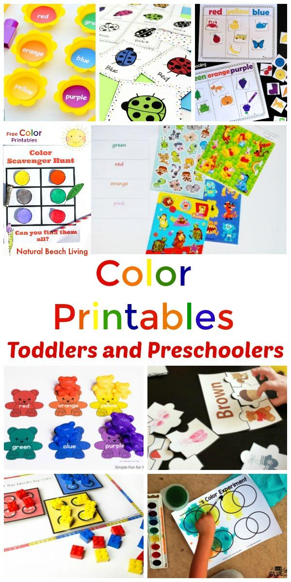 25 preschool color activities printables learning. Black Bedroom Furniture Sets. Home Design Ideas