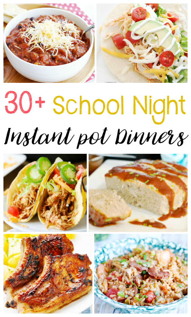 Easy Instant Pot Dinner Recipes for Busy School Nights, Perfect Back to School Recipes for the family, Healthy Instant Pot Dinner Recipes, Instant Pot Chicken Recipes and more. If you are looking for quick dinner ideas, you've come to the right place. 30+ Easy Weeknight Recipes