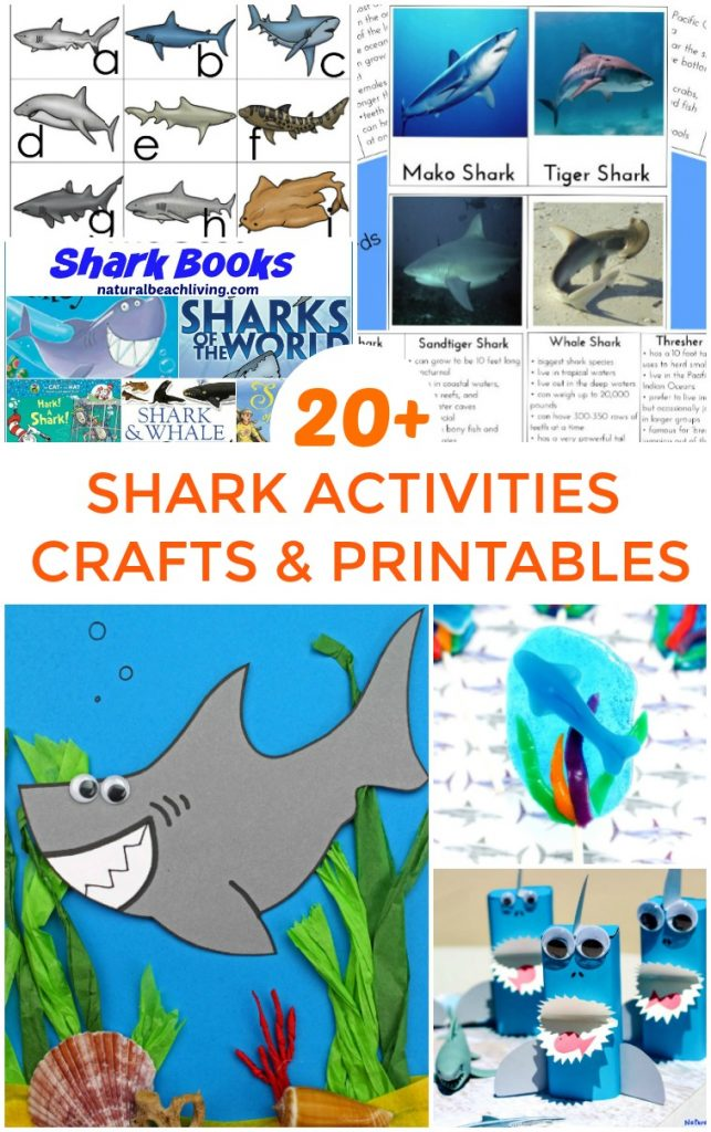 This is the place for Shark Week Activities for Kids and Shark Printables for Kids, Lots of Shark Week Crafts, Plus, Shark Science and Shark Themed Preschool ideas