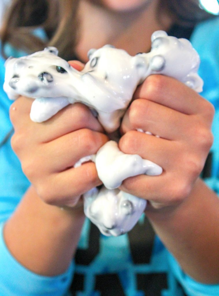Slime Recipe with Contact Solution 101 Dalmatians Preschool Activities, This easy no borax slime recipe is super cute and stretchy, Perfect Preschool dog theme activity, Plus, an Easy Slime Recipe and how to make slime with no fail slime recipes. 101 Dalmations Slime