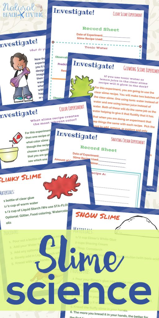 Slime Science Experiments with Slime Recipes, Get your kids excited to learn about the scientific method behind slime through hands-on activities and experiments.With this you will be able to teach your students and children how to set up and conduct investigations using slime for science.