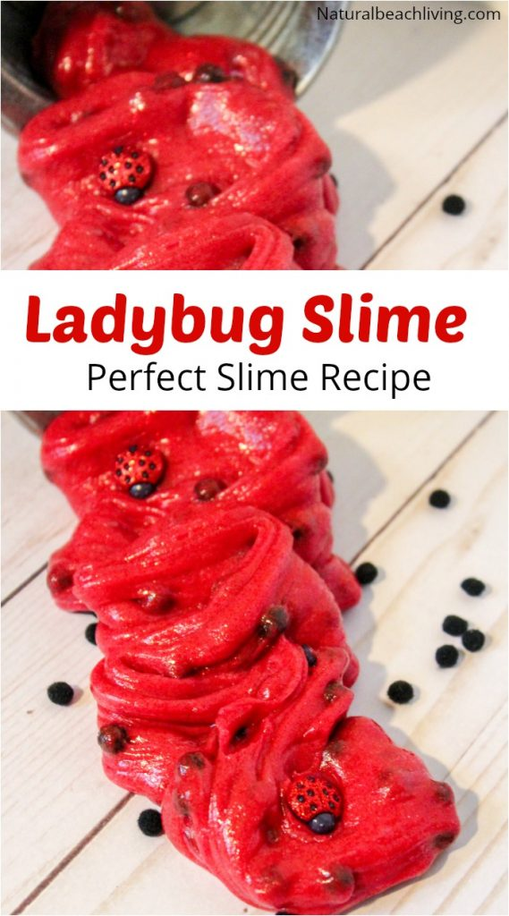 Ladybug Clear Slime Recipe a Clear Slime Recipe with Contact Solution, Perfect Kindergarten and Preschool Ladybug Theme Sensory Play, How to Make Slime Recipe with Contact Solution for Kids Science Experiment, Glitter Slime