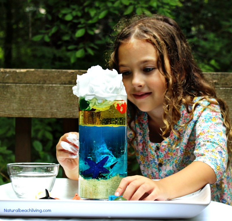 Ocean Science for Kids, An Easy Ocean Density Experiment for an Ocean Theme Unit Study, Under the Sea Preschool Activities and Preschool and Kindergarten Beach Science, Simple ocean activities for preschoolers in science with hands on activities and Ocean Theme Printables