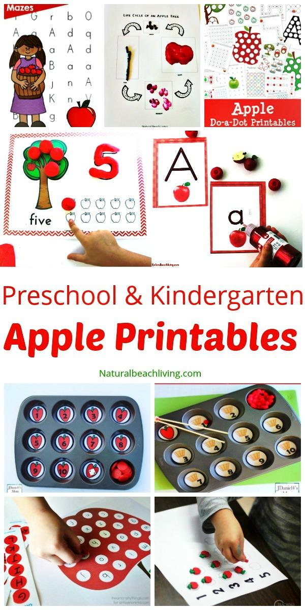 30 free apple printables for preschool and kindergarten natural