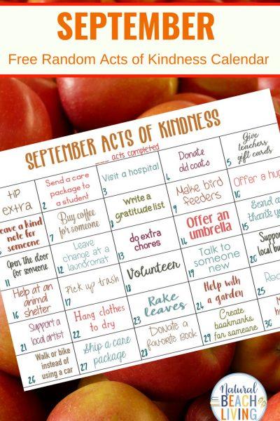 September Random Acts of Kindness Calendar